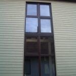 Fassadenverkleidung Stülpschalung Holzbau Feuerfeil