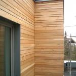 Holz Verschalung Wohnhaus Feuerfeil Holzbau Detail Heblos Vogelsbergkreis