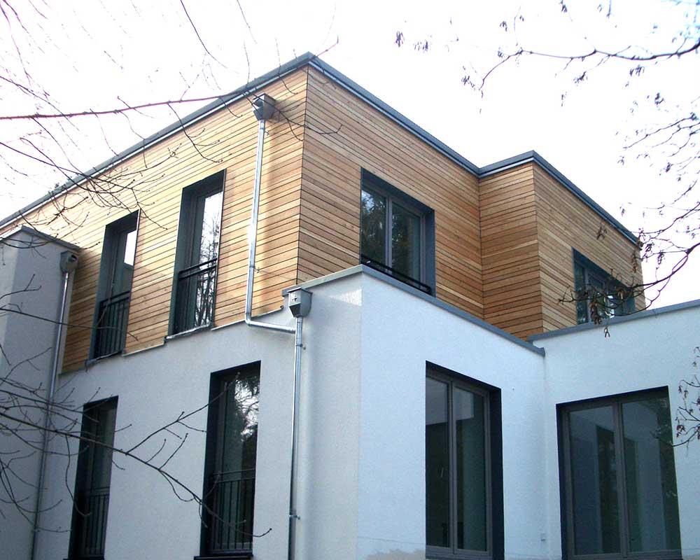 Holz Verschalung Wohnhaus Feuerfeil Holzbau Lauterbach Heblos Vogelsberg